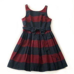 Abercrombie & Fitch • Preppy Striped Bow Dress